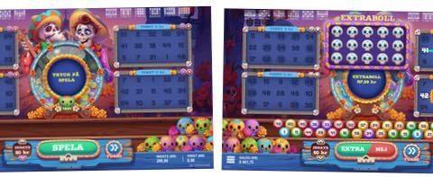 Tangkapan layar dari game bingo Calavera